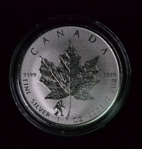 2016 1 Oz Silver Maple Leaf W Bigfoot Privy