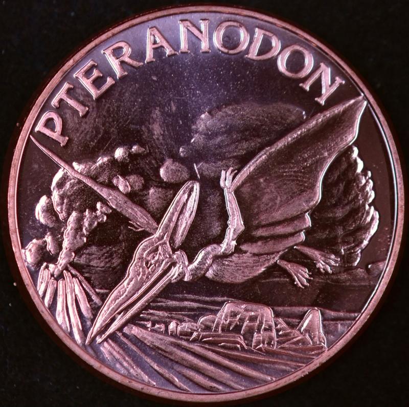 Pteranodon 1 oz Copper Round